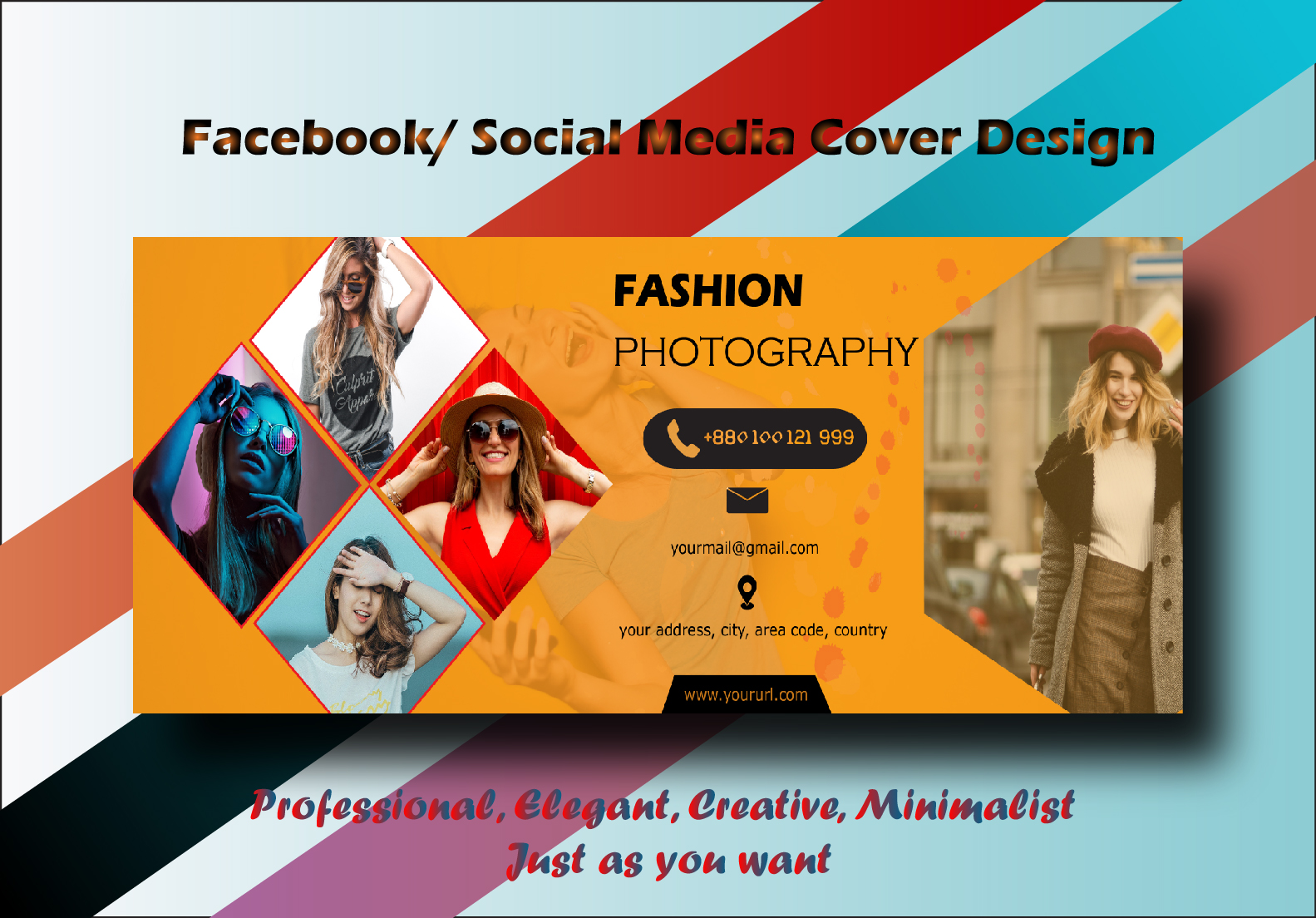 I will create perfect and an attractive facebook cover