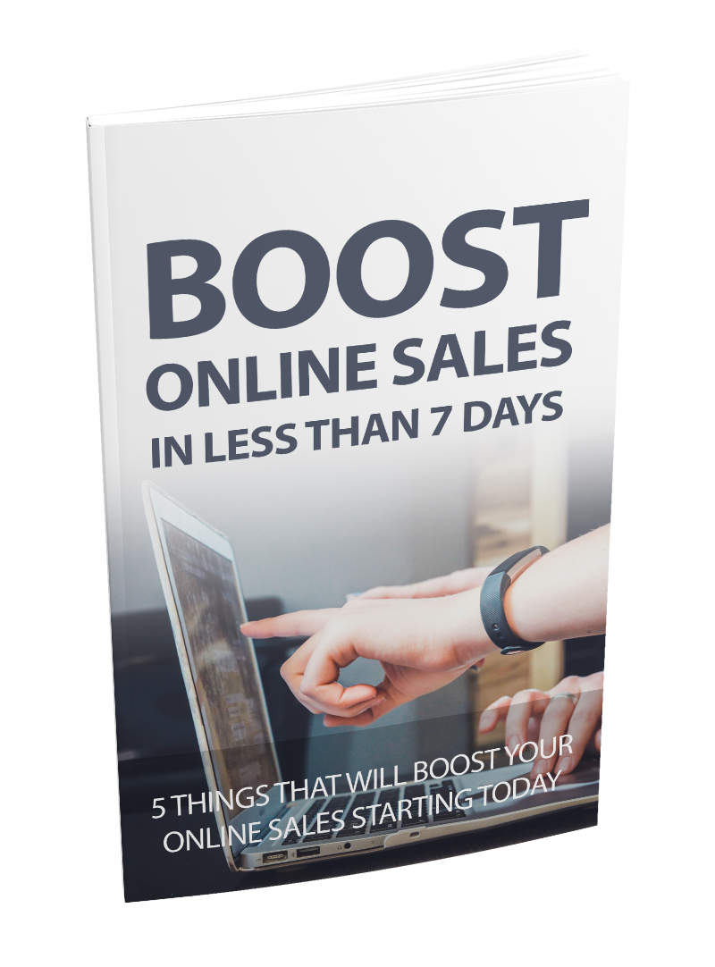 Boost online sales in less than 7 days in highly