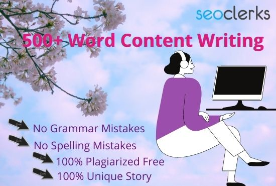 500+ Word Content,  Articles or Blog Writing at Reasonable Price