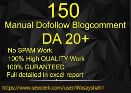 I will create 150 Manual Dofollow Blogtcomment