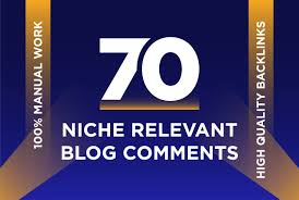 I will do 70 Niche Relevant Blog comments