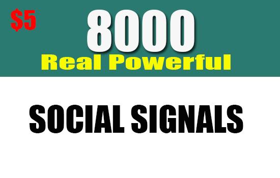 Create 8000 Google Ranking SEO Social Signals