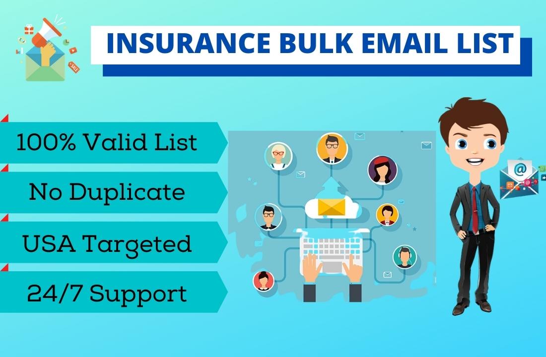 I will provide 2K insurance email list