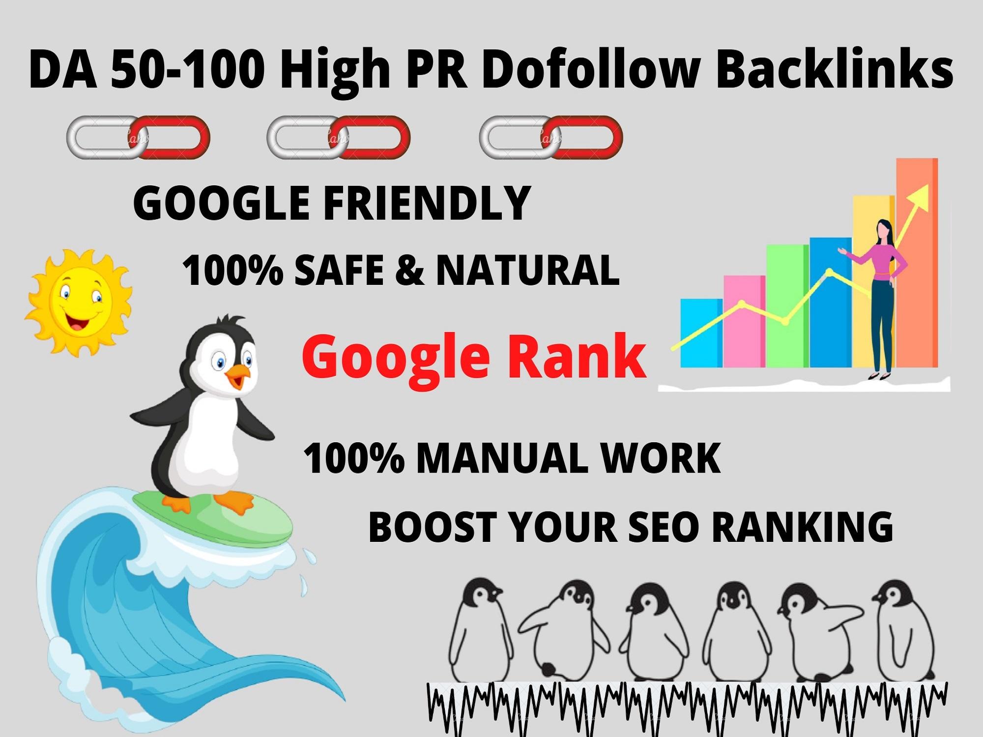 50+ DA dofollow backlinks for SEO rank