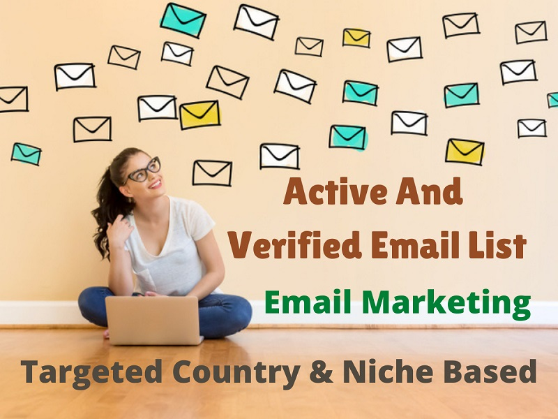 1000 verified and active email list for your email marketing