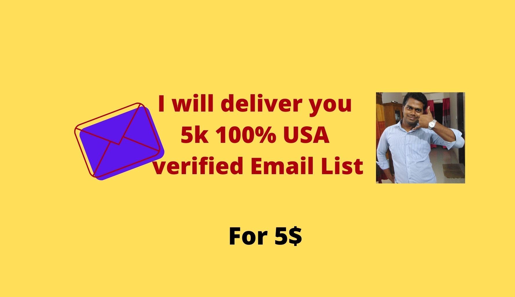 I will deliver you 5K 100% USA verified email list