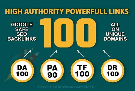 I will do high quality 100 SEO backlinks for website ranking