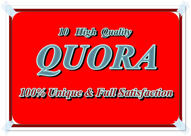 I will promote your website by creating 10 HQ quora answer