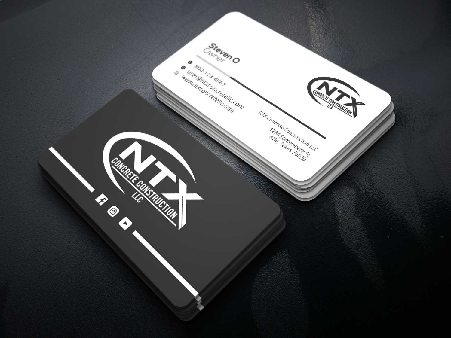 I will design a minimalist name card or business card with full time service