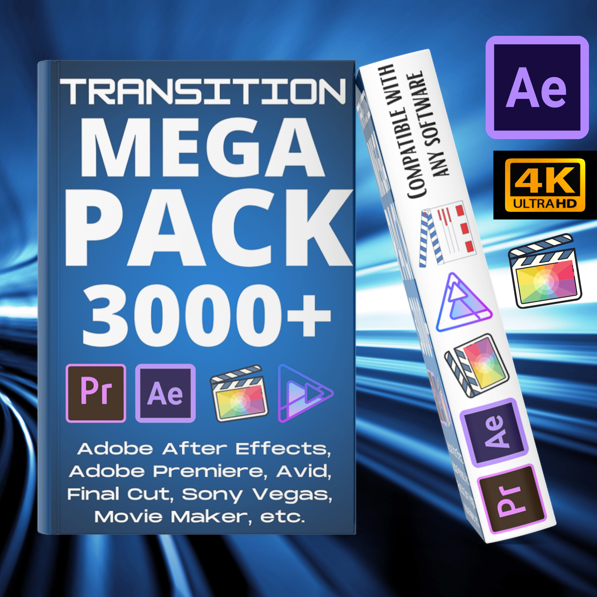 3500 Ultimate video Transition Mattes Pack Compatible with any software
