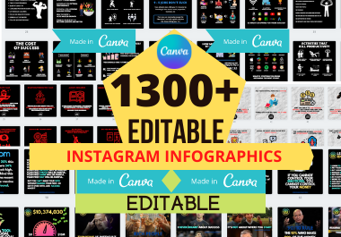 1300 Canva Editable Infographics Posts HUGE Collection Quotes