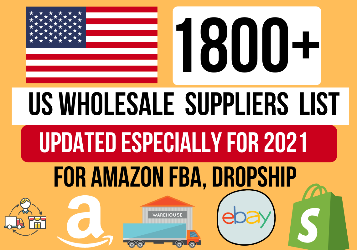 provide you a list of 1700 usa dropshipping suppliers