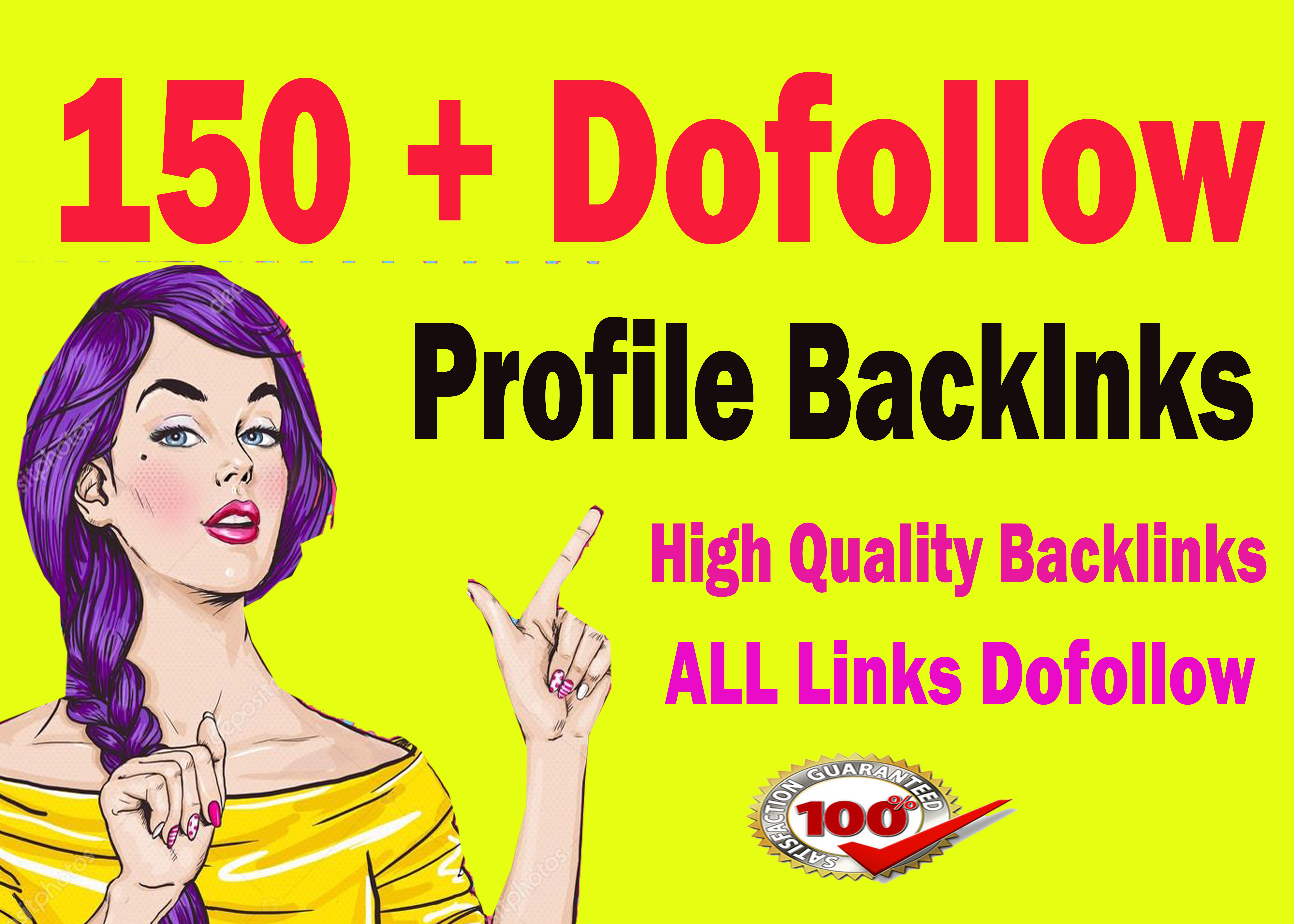 create 150 do-follow powerful pr9 profile SEO backlinks,  link building.