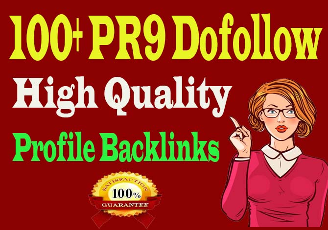 create 100 HQ do-follow profile backlinks manually for SEO ranking