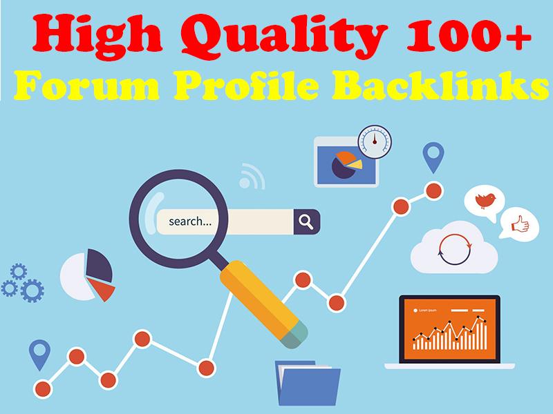I will provide 100+ Forum Profile Backlinks High Authority SEO Backlinks