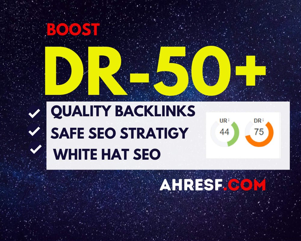 I will increase domain rating DR ahrefs to 60 plus guaranteed