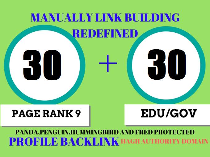I will create 30 EDU and 30 GOV High-Quality backlinks