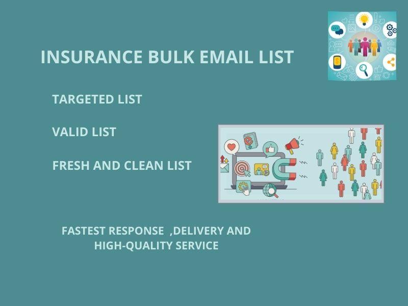 I will do provide 1K insurance bulk email list