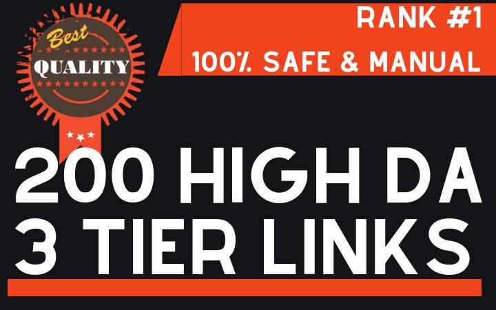 200+ High DA Authority Backlinks to Rank 1