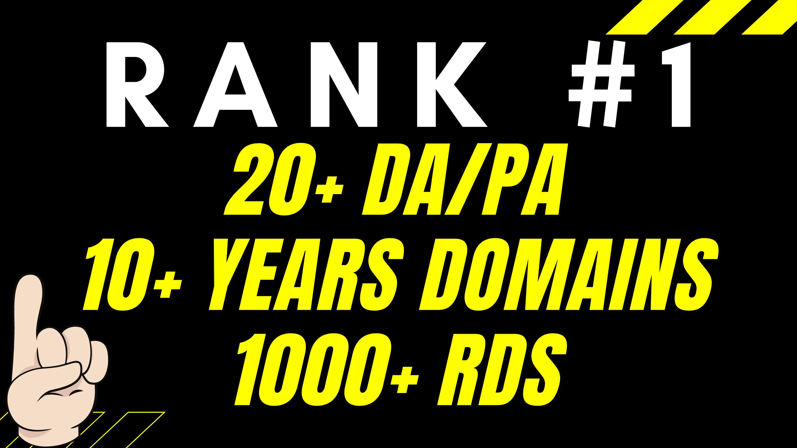 Rank 1 With 25+ Authority High DA PBN Links