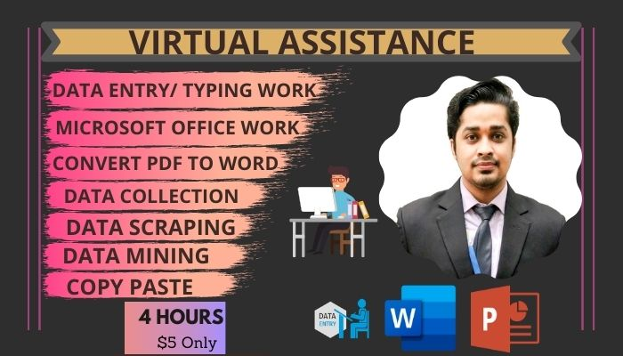 I will be your virtual assistant for data entry,  data mining