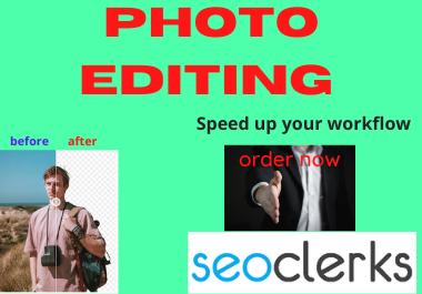 I will do any professional photo shop editing
