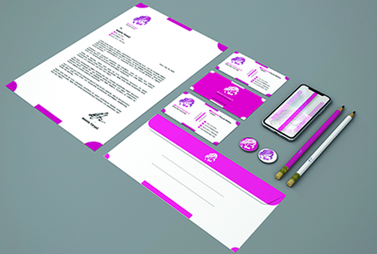 I will design minimalist Business Card and Stationery Brand Design