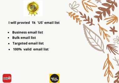 I will provied 1k 'US' email list