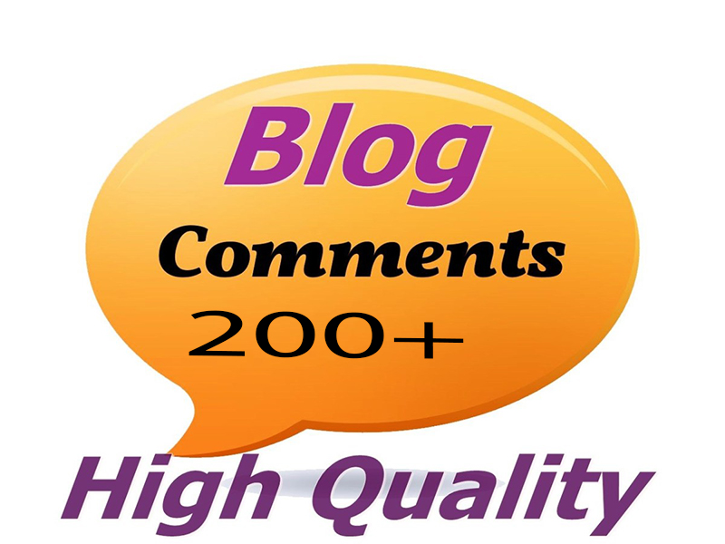 I Will Do 200+ High-Quality Manually Blog Comments