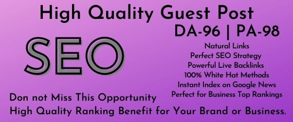 Write And Publish Guest Post On Medium DA 95,  PA 80 With Google Indexing