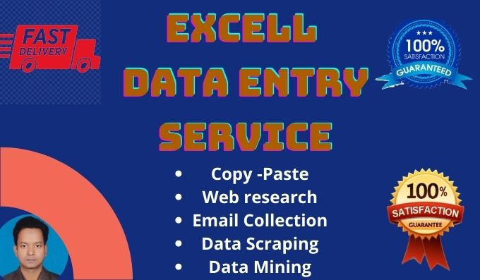 I will do excel data entry,  copy paste,  web research,  data analysis