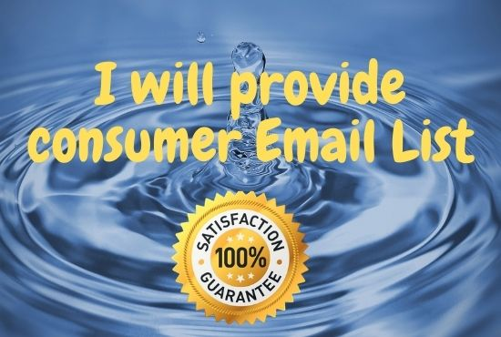 I will provide you active consumer email list of USA 2020