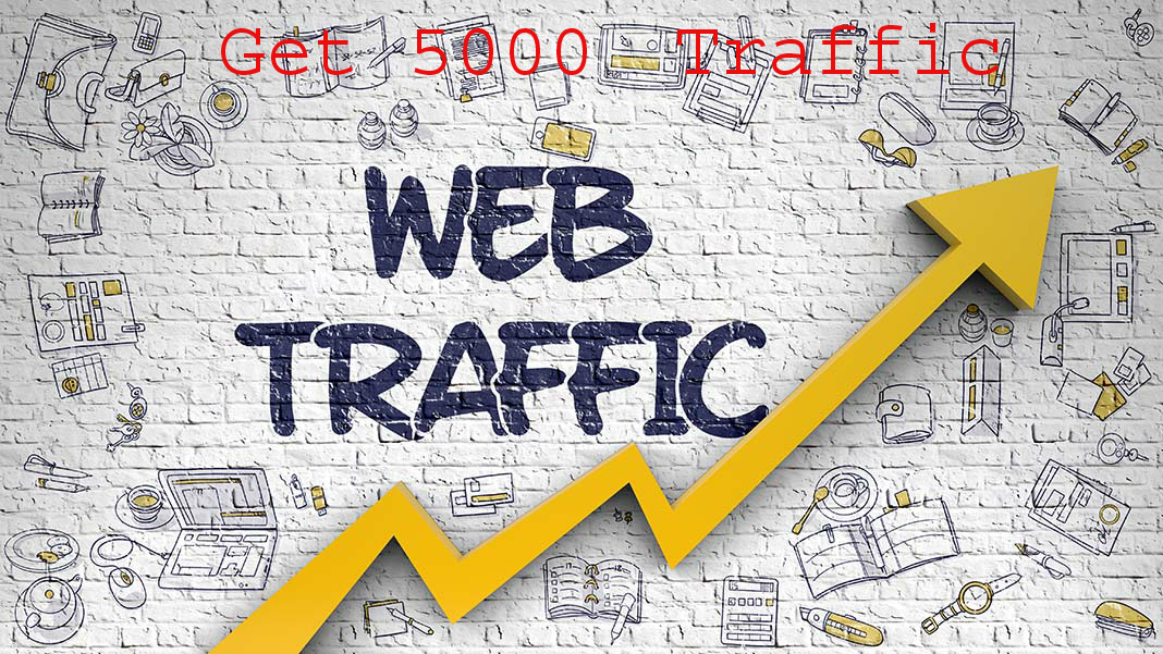 5000 HQ human worldwide website traffic