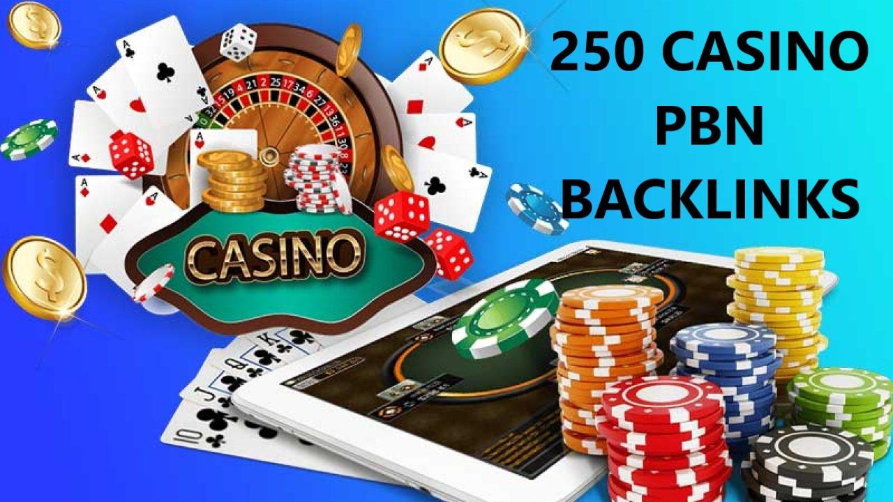 I will do 250 Niche PBNs Casino, Gambling, Poker, Judi Related websites DA 50+
