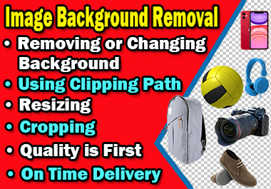 I will remove background from image,  edit and cut out 5 photos professionally in 24 hours
