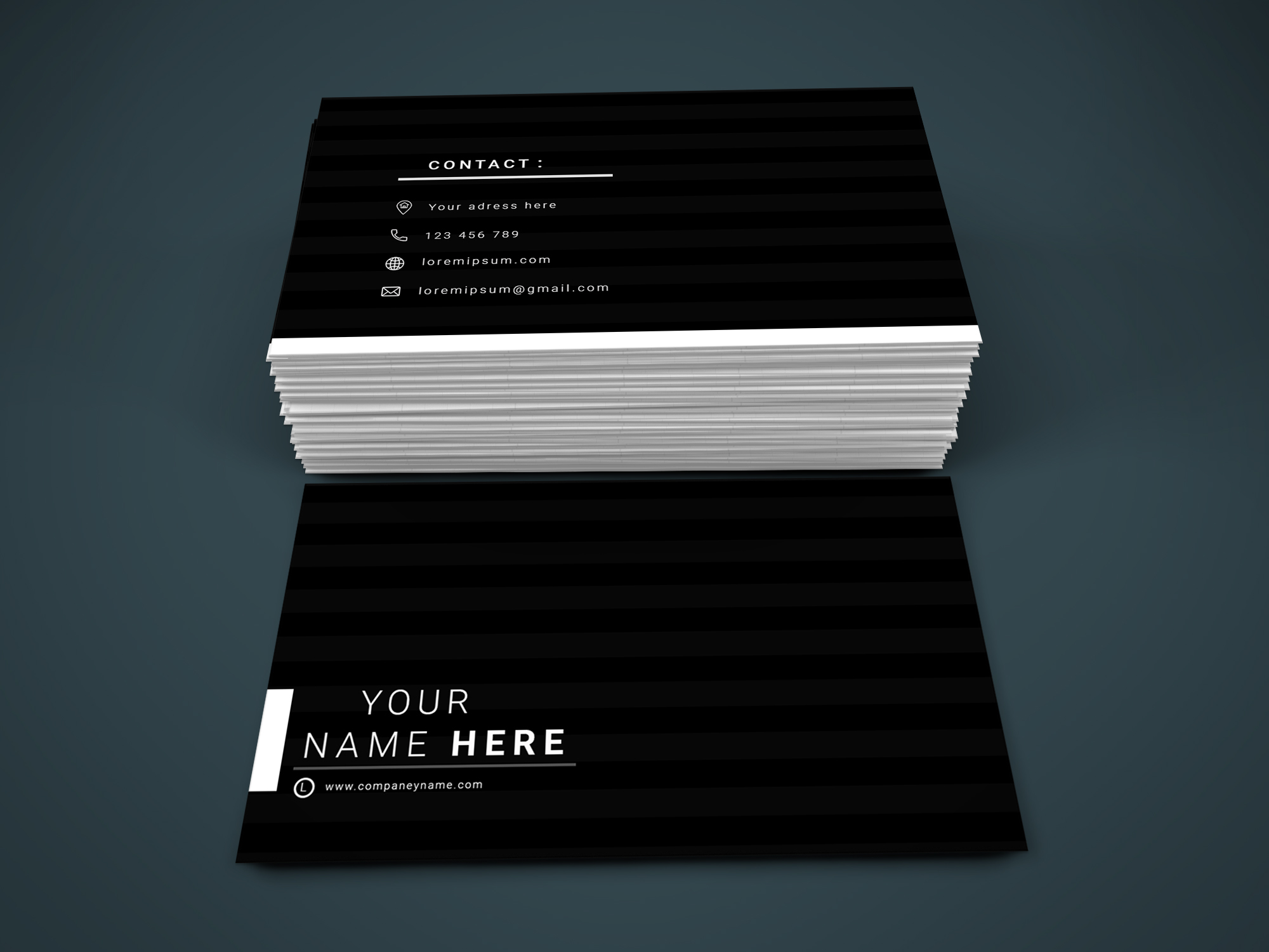 I will design simple modern and professional business card for you