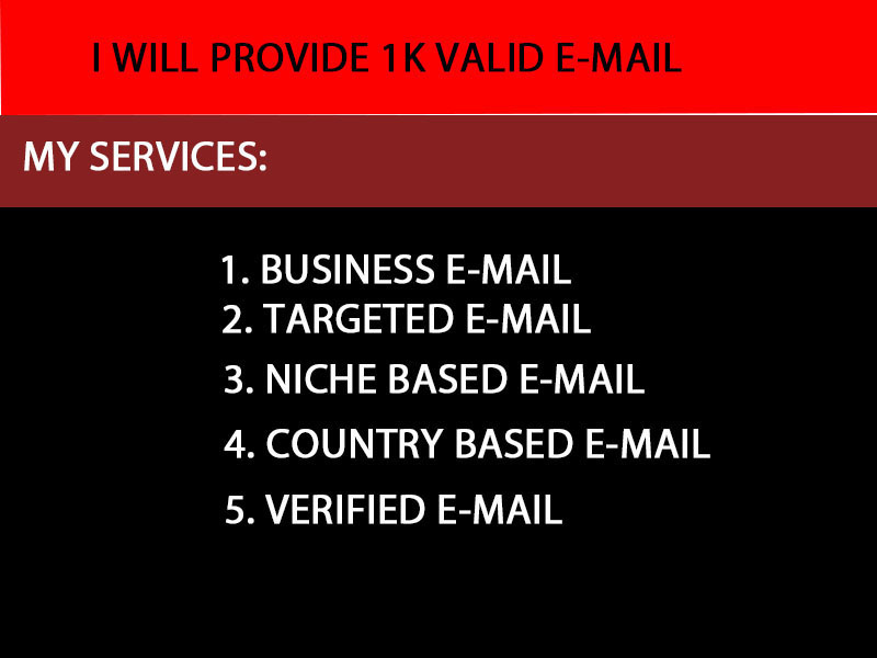 I will provide 1000 valid email