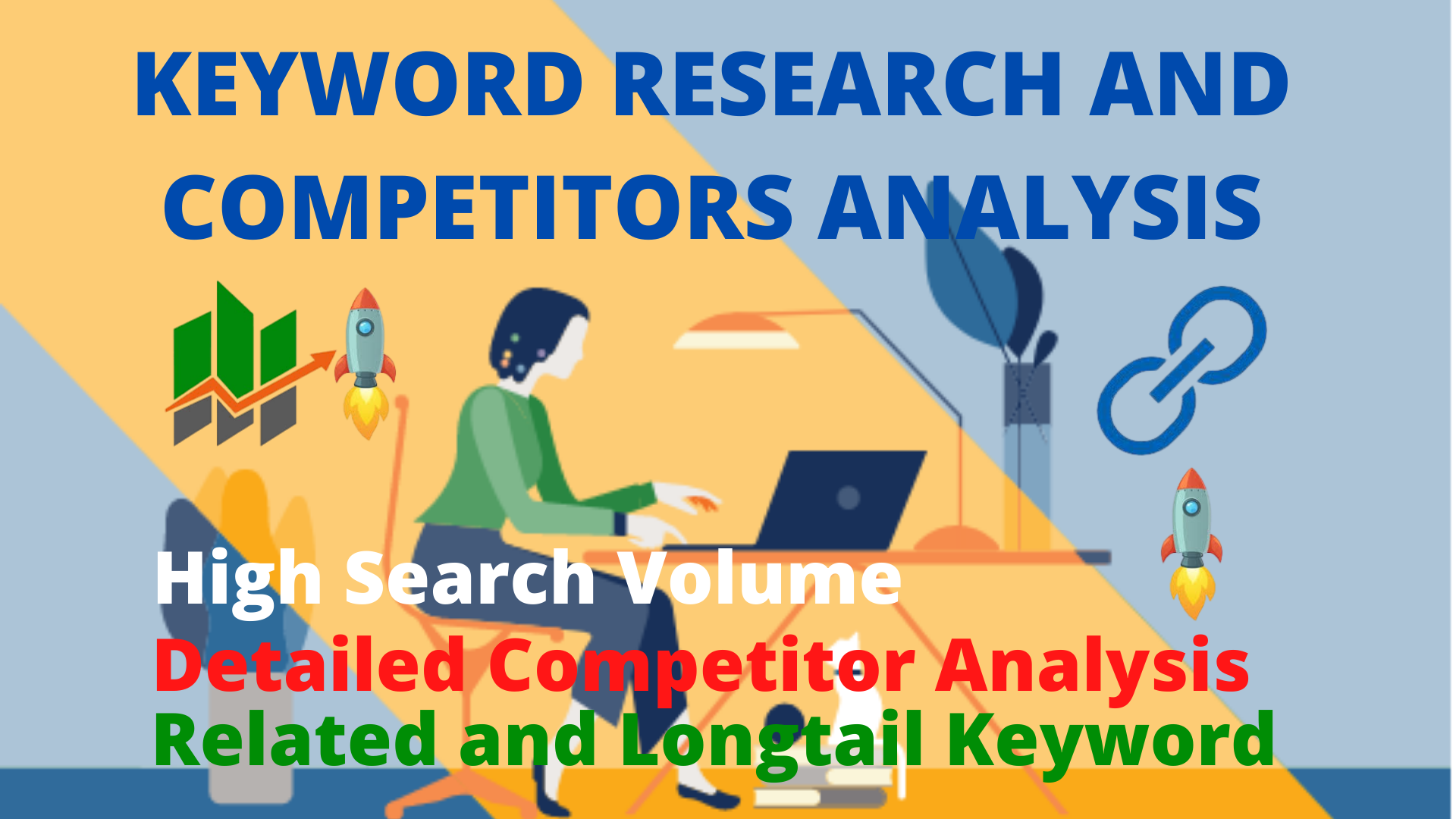 Long tail keyword research and competitor analysis