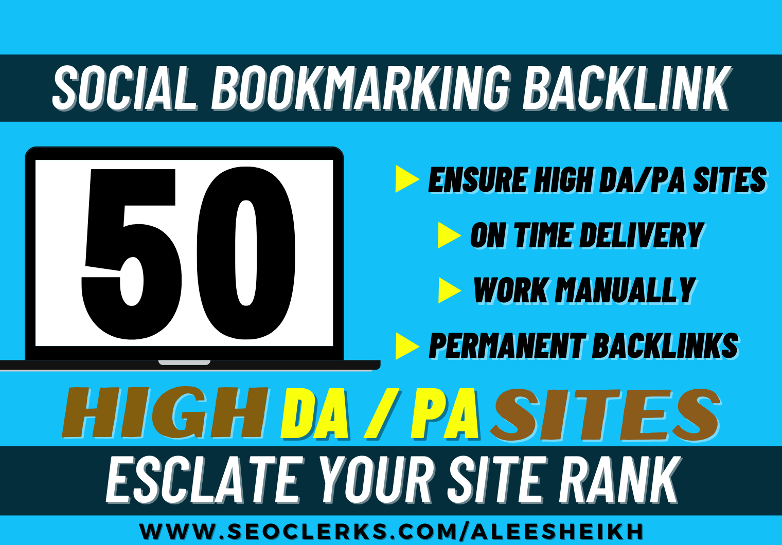 Affix Your Website to Top 50 High Quality Social Bookmarking Sites