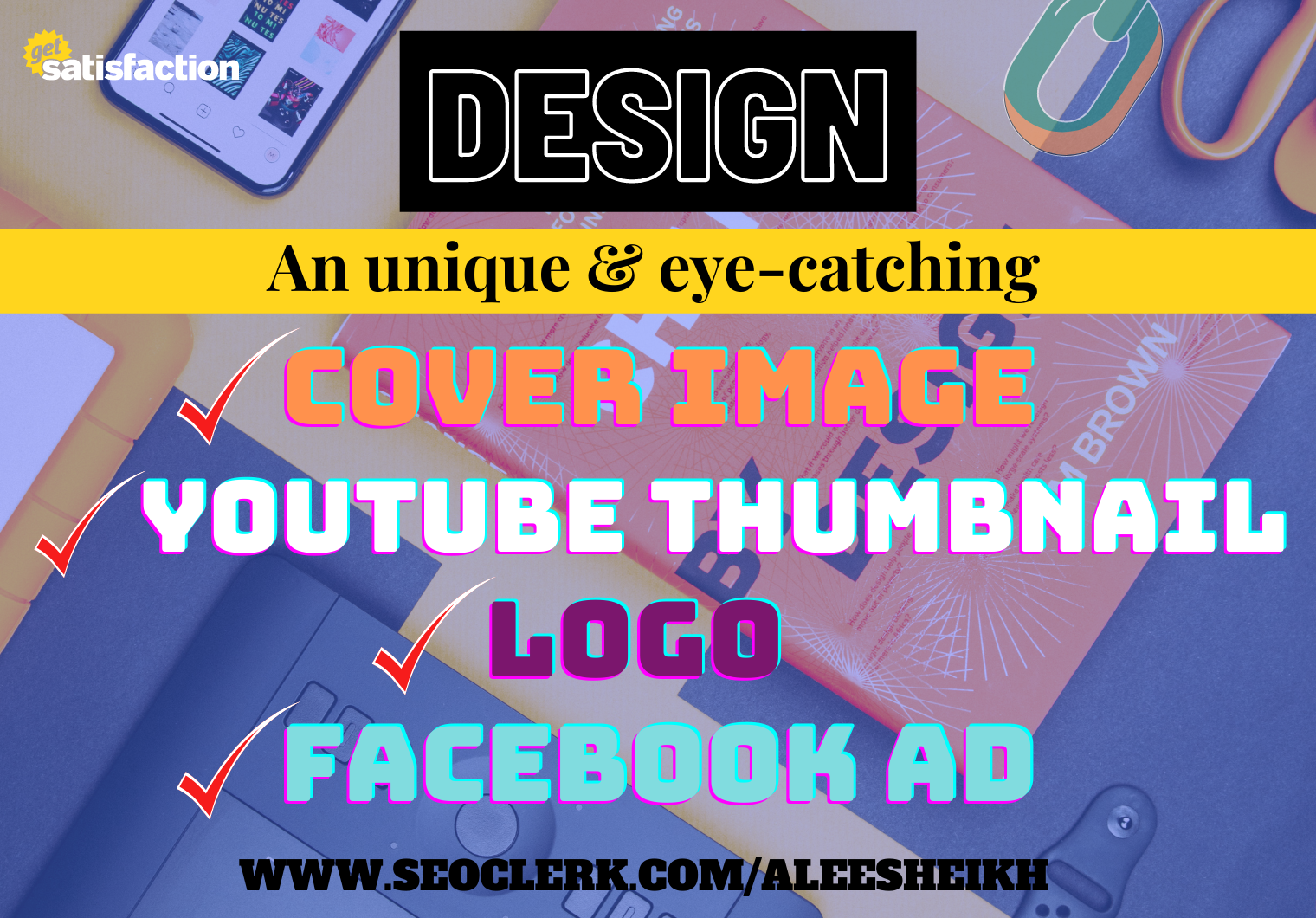 I will make creative Logo,  Cover photo,  Youtube thumbnail,  Social media post and ads