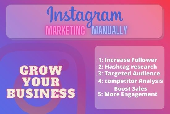 I will do Promote your Instagram Account for more Interactions.