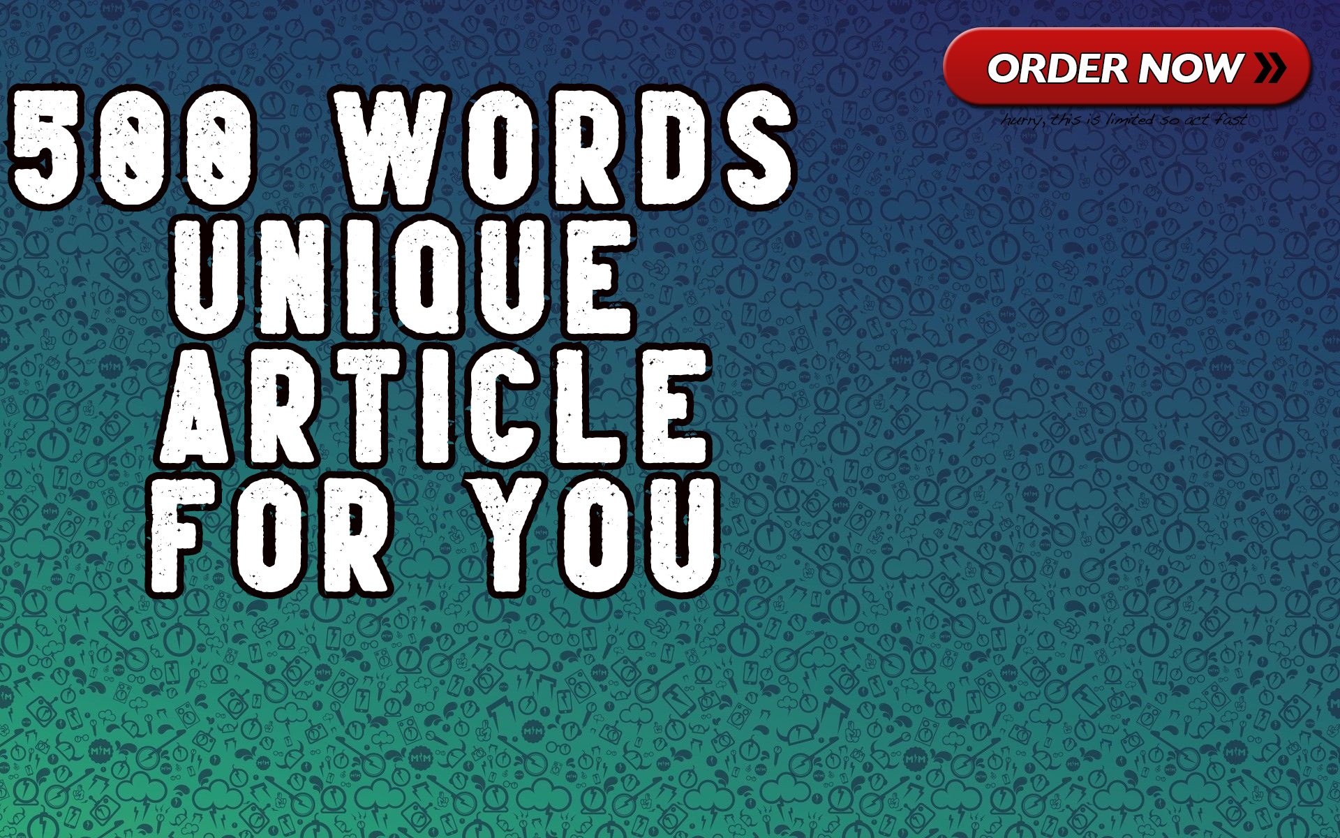 500 Words Unique Article for you