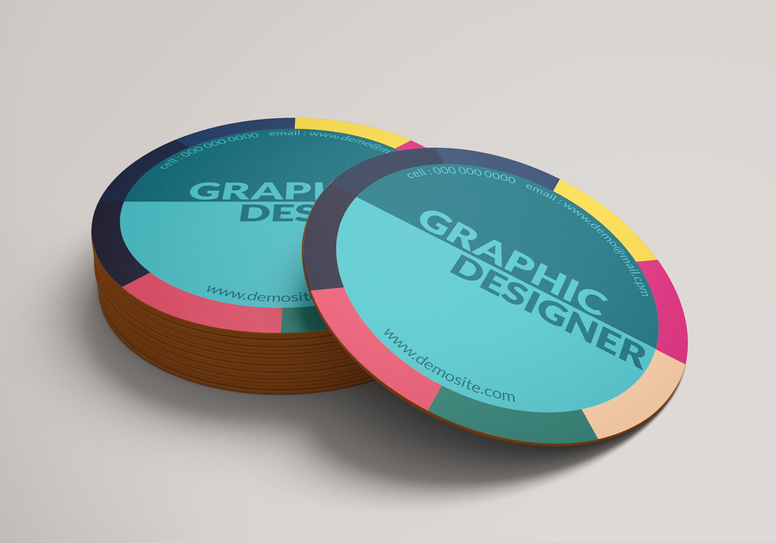 I Will Design Professional Circle or Rounded Business Card