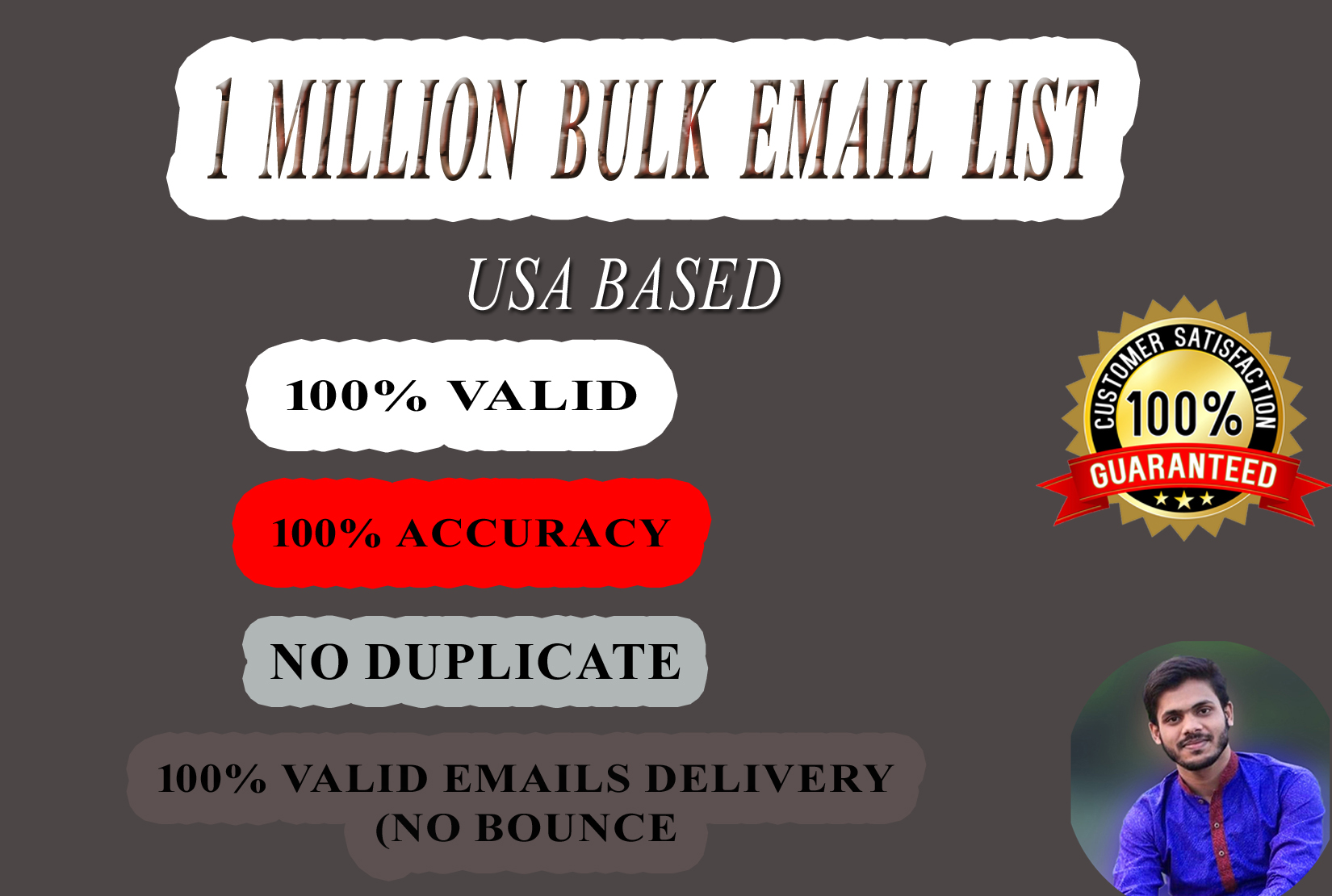 I will provide you 100k USA based Bulk Email list clean and verified