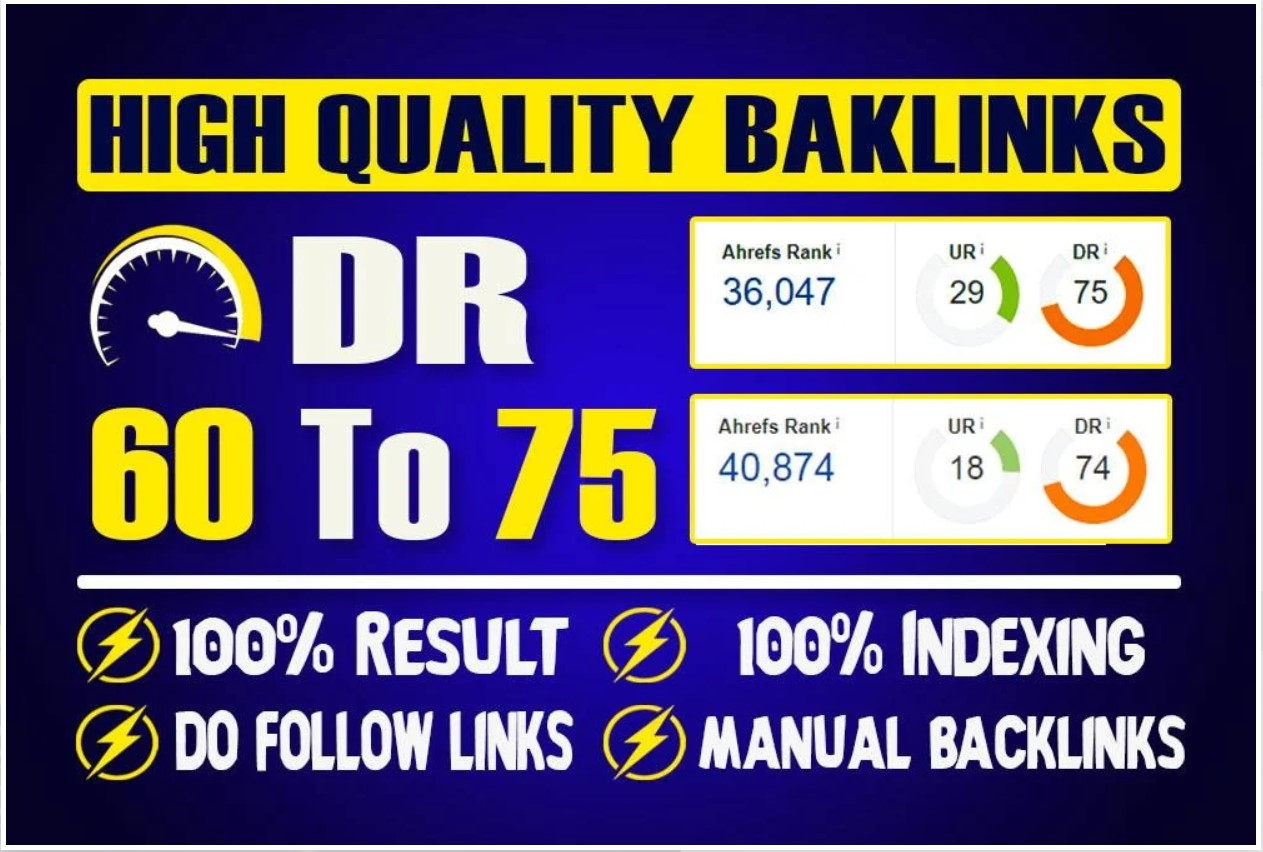 Provide 100 DO-FOLLOW backlinks from 100+ high DA in 24 hours 3000+ Backlinks index automatically