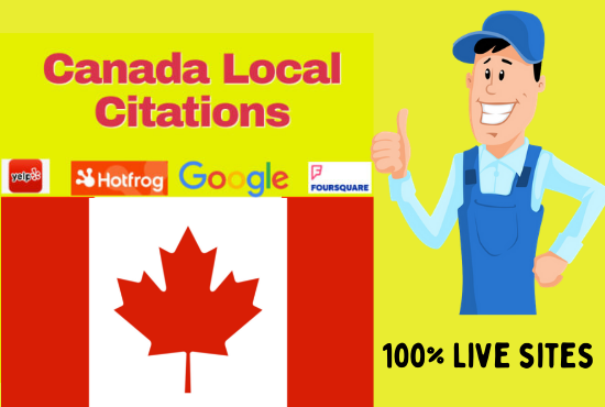 I will create best 50 canada local seo citations