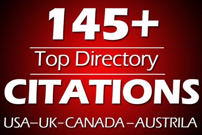 I will do manually 45 local citations for usa,  uk,  canada local SEO
