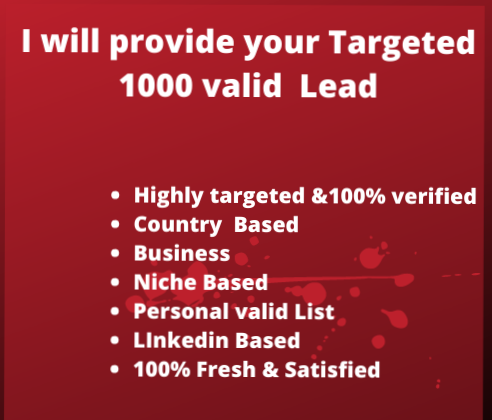 I will provide your target valid email list