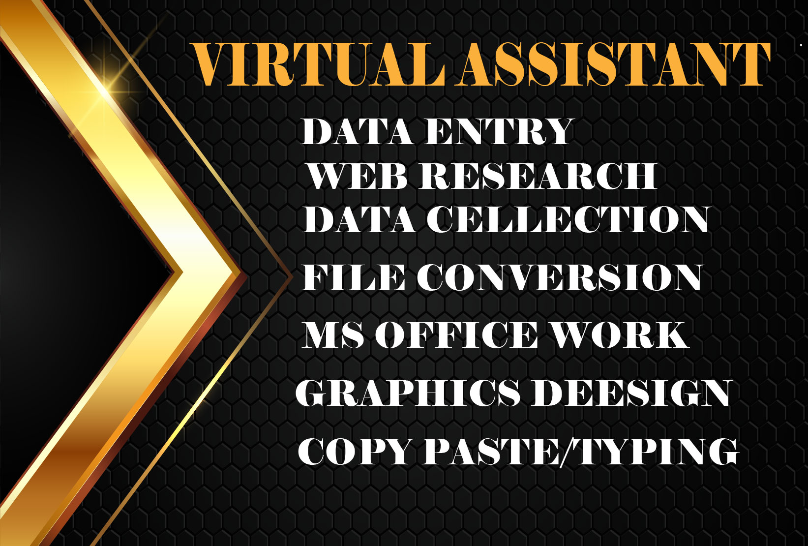 I will be your professional reliable Virtual Assistant