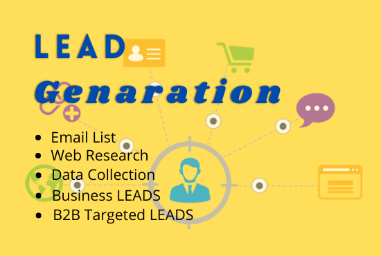 I will do business email lead generation and local lead generation